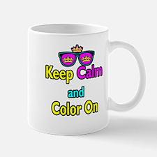 Crown Sunglasses Keep Calm And Color On Mug