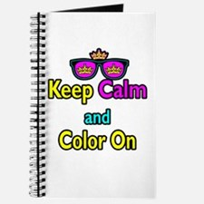 Crown Sunglasses Keep Calm And Color On Journal