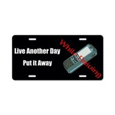 Live Another Day Aluminum License Plate