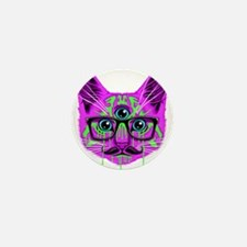 Hallucination Cat Mini Button