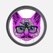 Hallucination Cat Wall Clock