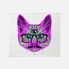 Hallucination Cat Throw Blanket