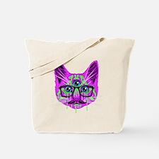 Hallucination Cat Tote Bag