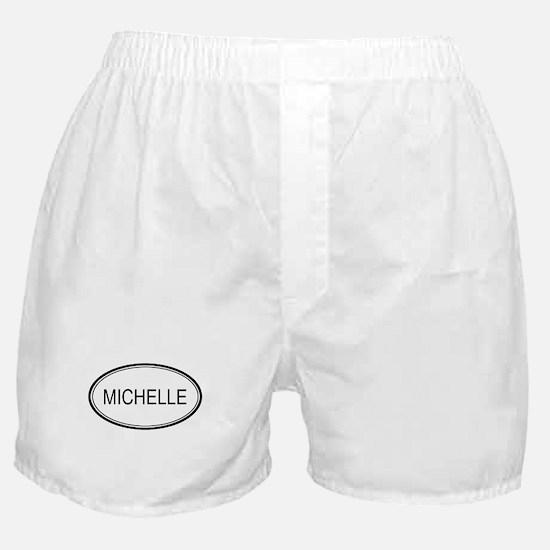 Michelle Oval Design Boxer Shorts
