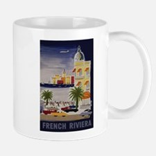 Vintage French Riviera Travel Ad Mug