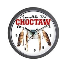 Proud to be Choctaw Wall Clock