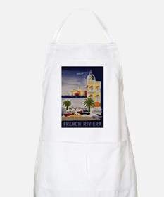 Vintage French Riviera Travel Ad Apron