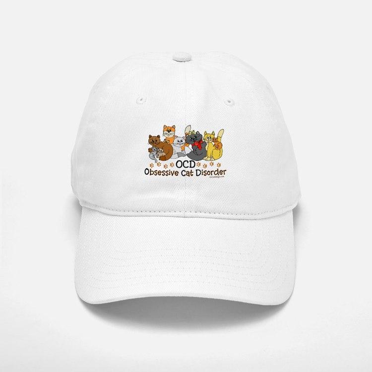 OCD Obsessive Cat Disorder Baseball Baseball Cap