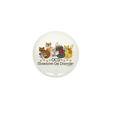 OCD Obsessive Cat Disorder Mini Button (10 pack)