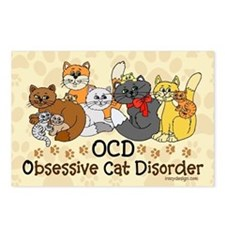 OCD Obsessive Cat Disorder Postcards (Package of 8