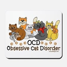 OCD Obsessive Cat Disorder Mousepad