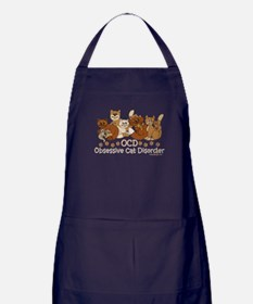 OCD Obsessive Cat Disorder Apron (dark)