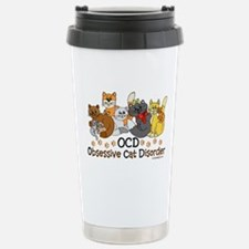 OCD Obsessive Cat Disorder Travel Mug