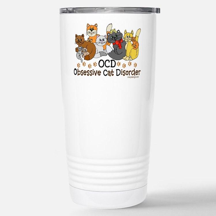 OCD Obsessive Cat Disorder Travel Mug