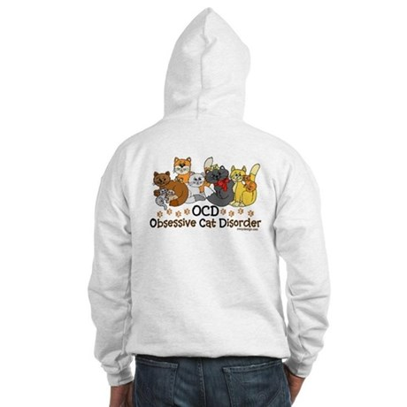 OCD Obsessive Cat Disorder Hooded Sweatshirt