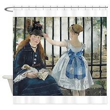 Edouard Manet - The Railway Shower Curtain