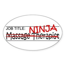 Job Ninja Massage Therapist Decal