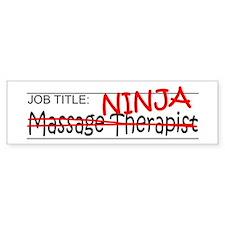 Job Ninja Massage Therapist Bumper Sticker
