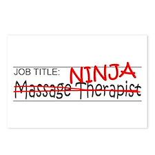 Job Ninja Massage Therapist Postcards (Package of