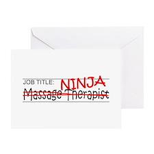 Job Ninja Massage Therapist Greeting Card