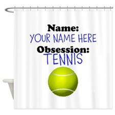 Custom Tennis Obsession Shower Curtain