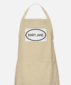 Mary Jane Oval Design BBQ Apron