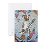 Molly portrait Greeting Cards