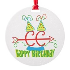 Cross Country Birthday Ornament