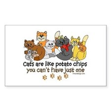 Cats are like potato chips Decal