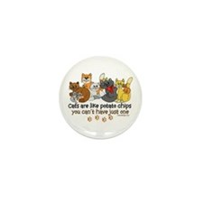 Cats are like potato chips Mini Button (100 pack)