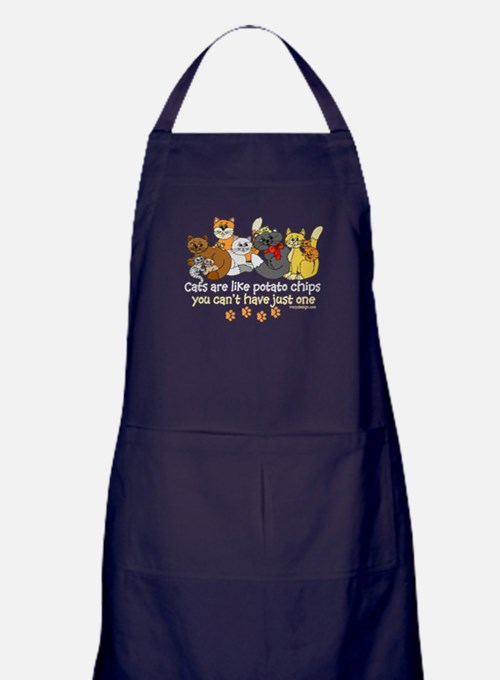 Cats are like potato chips Apron (dark)