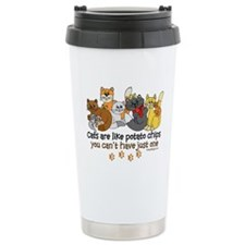 Cats are like potato chips Travel Mug