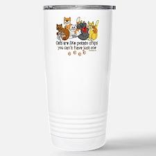 Cats are like potato chips Travel Mug