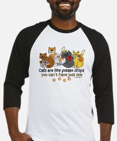Cats are like potato chips Baseball Jersey