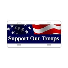 Funny Support the troops Aluminum License Plate