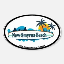 New Smyrna Beach - Surf Design. Decal