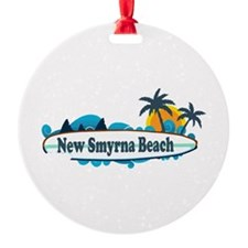 New Smyrna Beach - Surf Design. Ornament