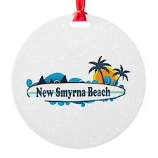New Smyrna Beach - Surf Design. Ornament