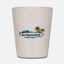 New Smyrna Beach - Surf Design. Shot Glass