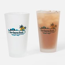 New Smyrna Beach - Surf Design. Drinking Glass