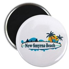 New Smyrna Beach - Surf Design. Magnet