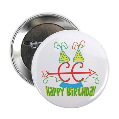 "Cross Country Birthday 2.25"" Button"