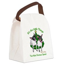 Toy Fox Terrier Canvas Lunch Bag