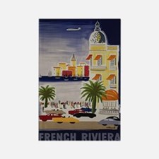 Vintage French Riviera Travel Ad Rectangle Magnet