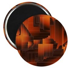 Abstract Burnt Halls Magnet