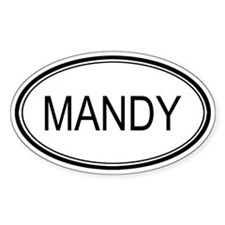 Mandy Oval Design Oval Decal