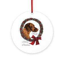 Vizsla Christmas Ornament (Round)