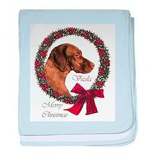 Vizsla Christmas baby blanket