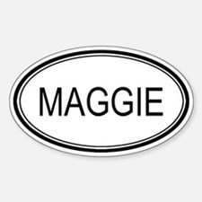 Maggie Oval Design Oval Decal