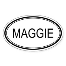 Maggie Oval Design Oval Stickers